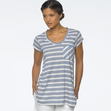 Organic Prana Skylar Top in Blue Jay