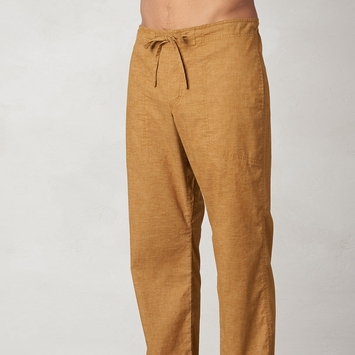 Hemp Prana Sutra Drawstring Yoga Pant in Dark Ginger
