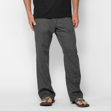 Hemp Prana Sutra Drawstring Pant in Black Herringbone