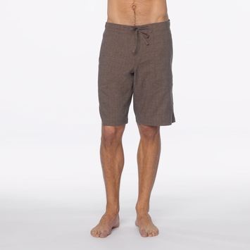 Hemp Prana Sutra Short in Brown Herringbone