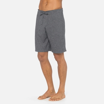 Hemp Prana Sutra Yoga Short in Black Herringbone