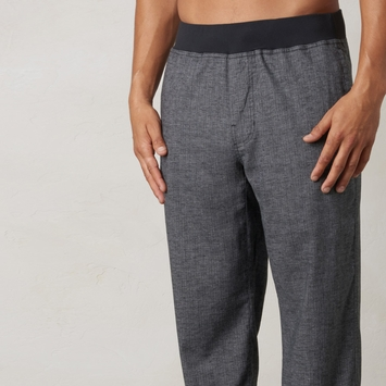 Hemp Prana Vaha Yoga Pant in Black Herringbone