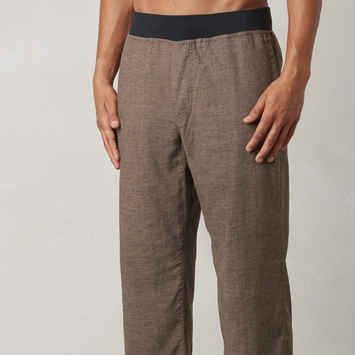 Hemp Prana Vaha Yoga Pant in Brown Herringbone
