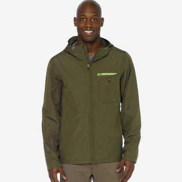 Prana Winn Rain Jacket in Cargo Green