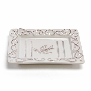 Pre de Provence Bird and Twig Ceramic Soap Dish