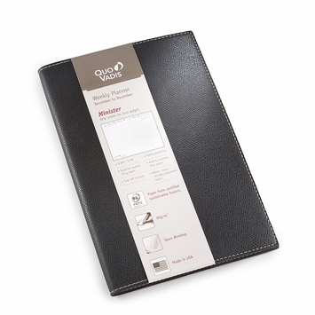 Quo Vadis 2021 Club Minister #15 Planner (6.25 x 9.375) in Black