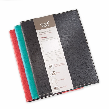 Quo Vadis 2020 Club Trinote Planner (7 x 9.375) in Black