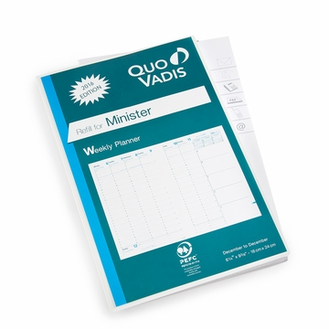 quo vadis 2017 minister weekly planner refill 15 ref