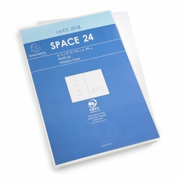 Exacompta 2018 Space 24 Weekly Planner Refill (Ref. #2301) (6.25 x 9.375)
