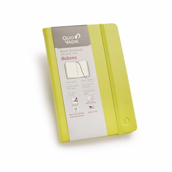 Quo Vadis Habana Small Plain Journal 85g (4 x 6.125) in Green