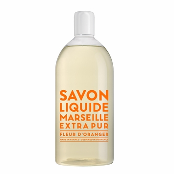 REFILL Savon de Marseille Extra Pur Liquid Soap (33.8 oz) in Orange Blossom