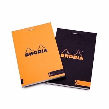 Rhodia Premium Staple Bound No. 12 Notepad (3.375 x 4.75) in Orange