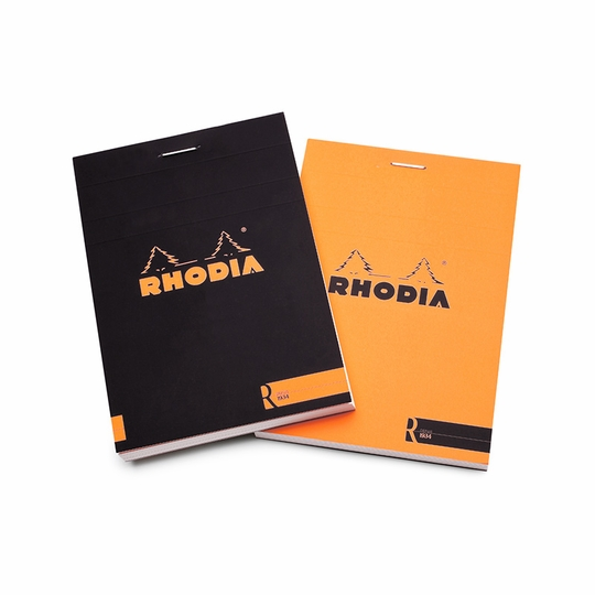 Rhodia Premium Staple Bound No. 12 Notepad (3.375 x 4.75) ( Black )