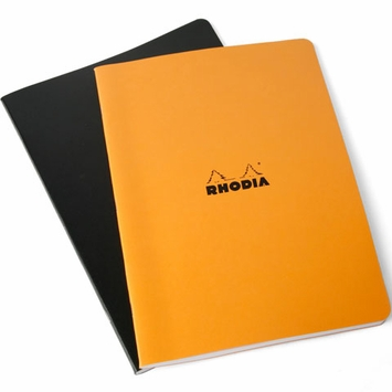 Rhodia Side Slim Staple Bound A4 Notebook (8.25 x 11.75)