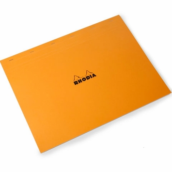 Rhodia Top Staple Bound No. 38 Notepad (16.5 x 12.5) in Orange