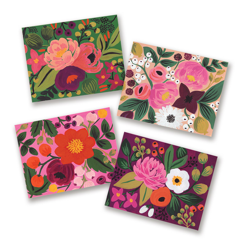 rifle paper assorted vintage blossoms boxed cards eco