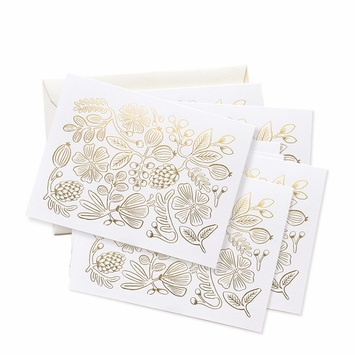 Rifle Paper Gold Botanical Boxed Cards (4.25 x 5.5)