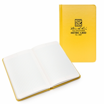 Rite in the Rain Large Hard Cover Squared Notebook (4.75 x 7.5)