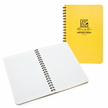 Rite in the Rain Large Side Spiral Bound Notebook (4.625 x 7) in Graph
