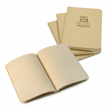 Rite in the Rain Pocket Soft Cover Universal Notebook (3.5 x 5) (Set of 3) in Tan