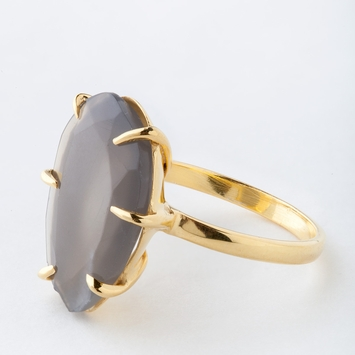 Roost Gray Moonstone Faceted Ring in 6