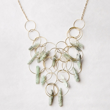 Roost Green Kyanite Jumble Necklace