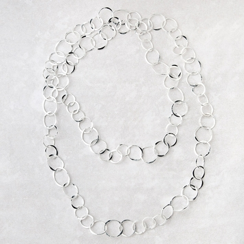 Roost Hammered Silver Chain Necklace