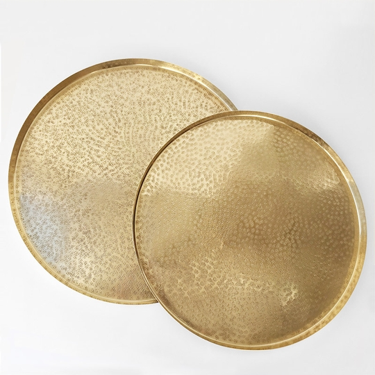 Roost Large Brass Tray Set