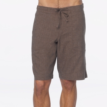 Hemp Prana Sutra Yoga Short in Brown Herringbone