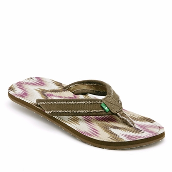 Sanuk Women's Aurora Sandal in Brown/Pink
