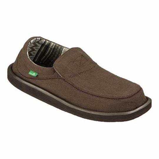 Sanuk Chiba Stitched Shoe ( Dark Brown )