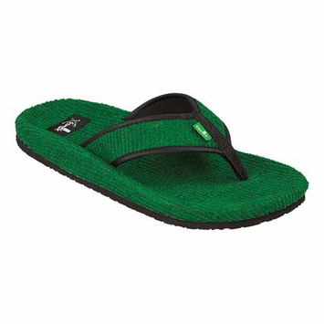 Sanuk Men's Fur Real Classic Sandal in Green