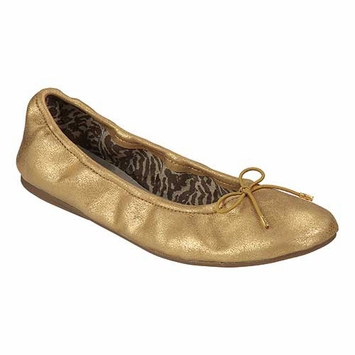 Sanuk Metallic Ballet Shoe in Gold