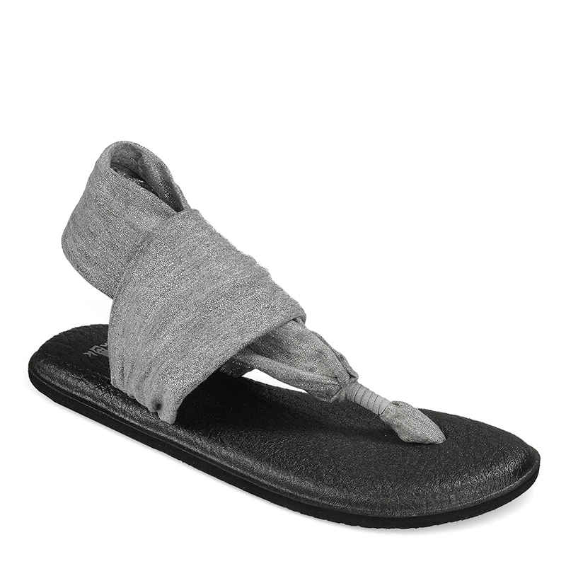 Sanuk Yoga Sling Ladies Grey Sandals GWNvI