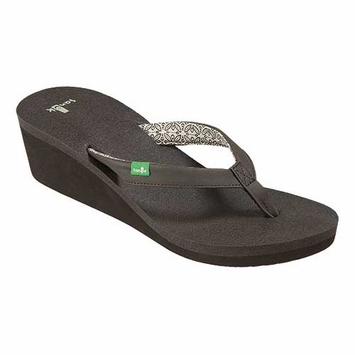 Sanuk Yoga Zen Wedge Sandal in Brown