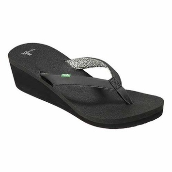 Sanuk Yoga Zen Wedge Sandal in Black