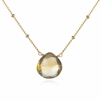 Satya Citrine Solitaire Abundance Necklace