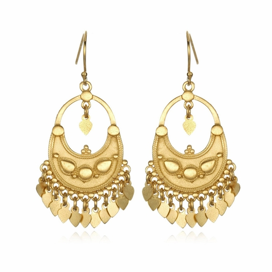 Satya Flower Petal Chandelier Earrings