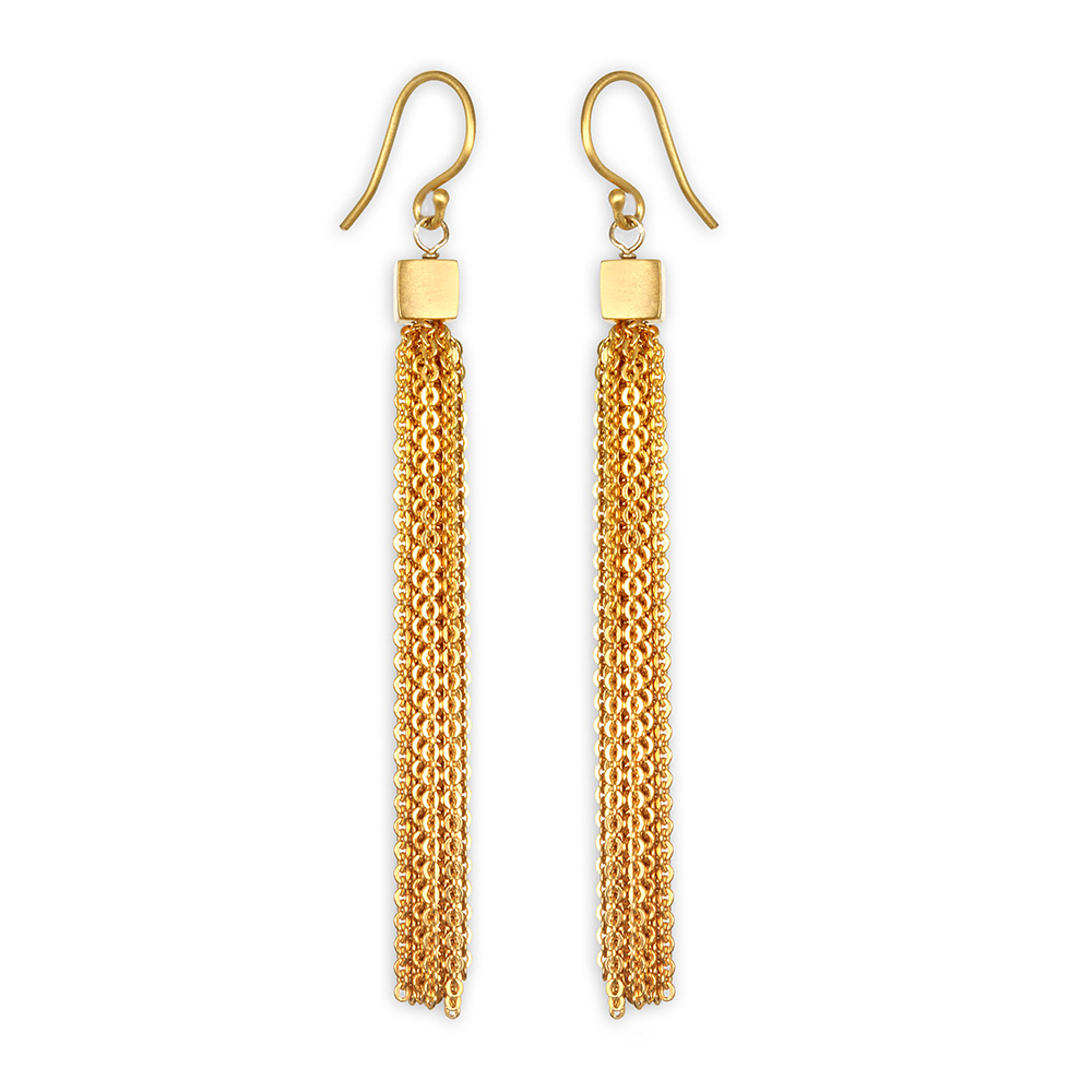 Satya Gold Chain Duster Earrings Click To Zoom