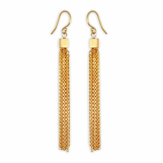 Satya Gold Chain Duster Earrings