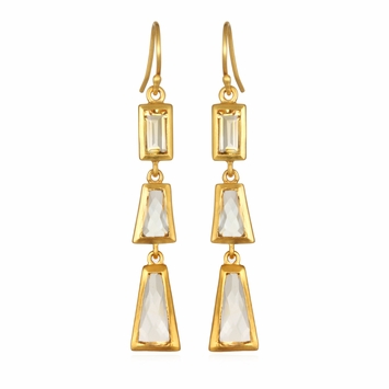 Satya Gold Citrine Drop Earrings