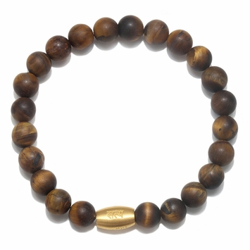 Satya Jewelry Men's Tiger's Eye Stretch Bracelet