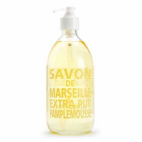Savon de Marseille Extra Pur Liquid Soap (16.9 oz Glass Bottle) in Grapefruit