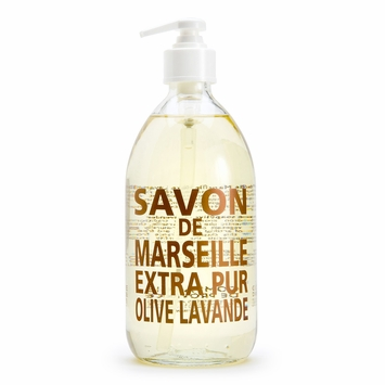Savon de Marseille Extra Pur Liquid Soap (16.9 oz Glass Bottle) in Lavender