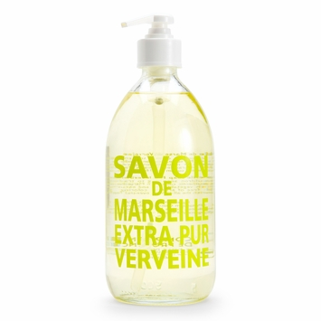 Savon de Marseille Extra Pur Liquid Soap (16.9 oz Glass Bottle) in Verbena