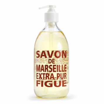 Savon de Marseille Extra Pur Liquid Soap (16.9 oz Glass Bottle) in Fig