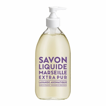 Savon de Marseille Extra Pur Liquid Soap (16.9 oz Glass Bottle) in Aromatic Lavender