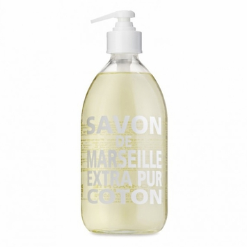 Savon de Marseille Extra Pur Liquid Soap (16.9 oz Glass Bottle) in Cotton Flower
