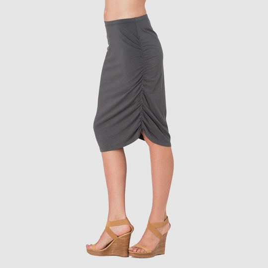Sense Ruched Pencil Skirt ( City Grey )