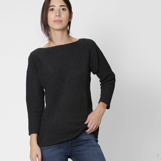 6073d45e2 Six Ten Cotton Boatneck Sweater Womens Apparel at Vickerey